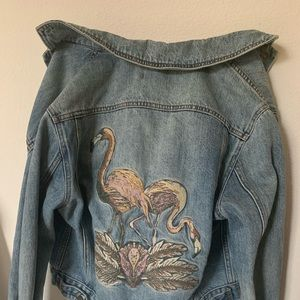 URBAN OUTFITTERS BDG embroidered jean jacket small